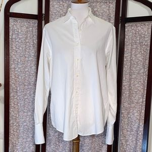 Rafaella white button front dress shirt.
